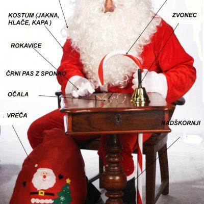 božičkov kostum 12 delni