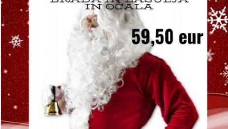 ugodno brada in lasulja set za božička